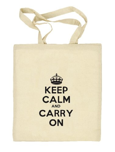 Shirtstreet24, Keep Calm and Carry On, Stoffbeutel Jute Tasche (ONE SIZE), Größe: onesize,natur
