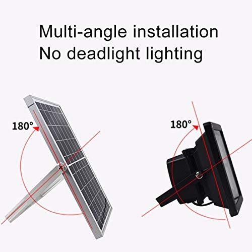 41fcO2S rQL - Las luces del paisaje Luz de inundación solar elegante impermeable de TGD 10W 30 LED IP65 con el panel solar teledirigido Fiesta de jardin