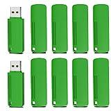 KOOTION USB Sticks 10 Stücke 4GB USB Speichersticks USB 2.0 Flash Drives Memory Stick USB-Flash-Laufwerk (10er Pack * 4GB,Grün)