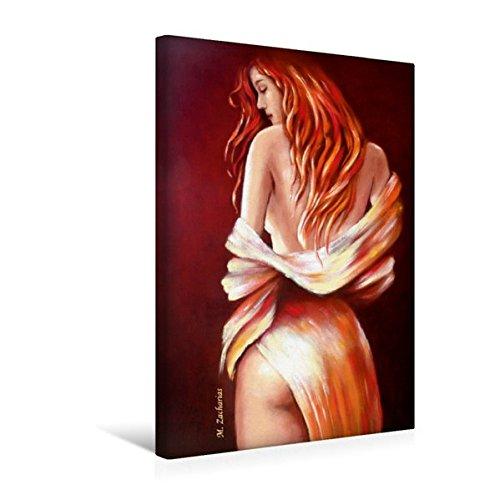 Premium Textil-Leinwand 30 cm x 45 cm hoch, Rote Schönheit | Wandbild, Bild auf Keilrahmen, Fertigbild auf echter Leinwand, Leinwanddruck: Erotik handsigniert, Ölgemälde (CALVENDO Menschen) (Ölgemälde Weiblicher Akt)