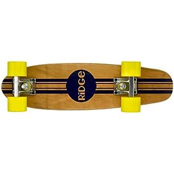 Ridge Retro Skateboard Mini Cruiser, gelb, 22 Zoll, WPB-22