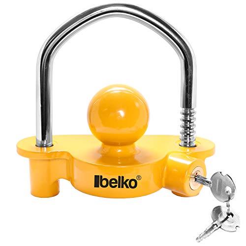 BELKO® Anhängerschloss für gängige Anhängerkupplung einfache Montage Diebstahlschutz Diebstahl Anhänger Sicherung