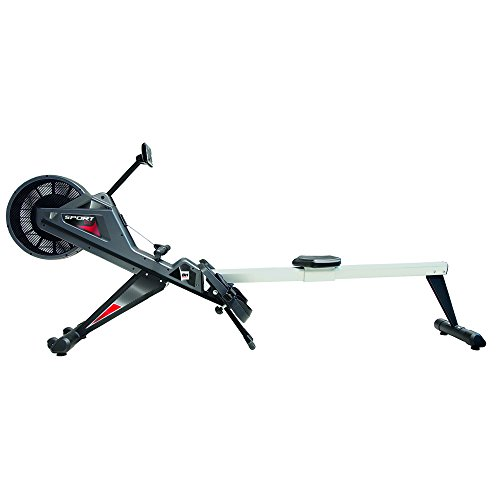 BH Fitness SPORT CLUB R380 Rudergerät – Rudermaschine – mit Magnetischem Bremssystem + Druckluft Bremssystem