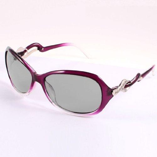 Lady Plastic Glitter Powder Details Arm Teardrop Objektiv polarisierten Sonnenbrillen Lila