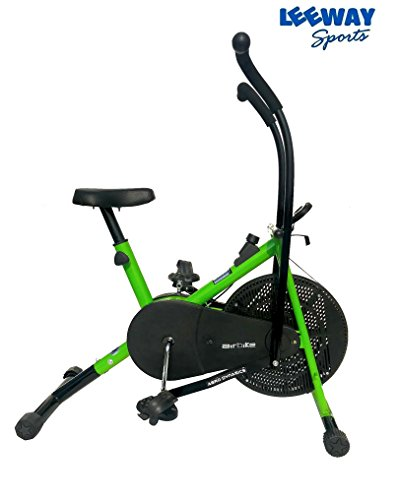 Leeway Air Bike Exercise Cycle| Moving Handle Gym bike For Home Use| Deluxe Design of Fitness| Lifeline for Cardio Work Out| Weight Loss Equipment| Exercise Stamina Bike| Dual Action Cycle- GREEN  available at amazon for Rs.6389