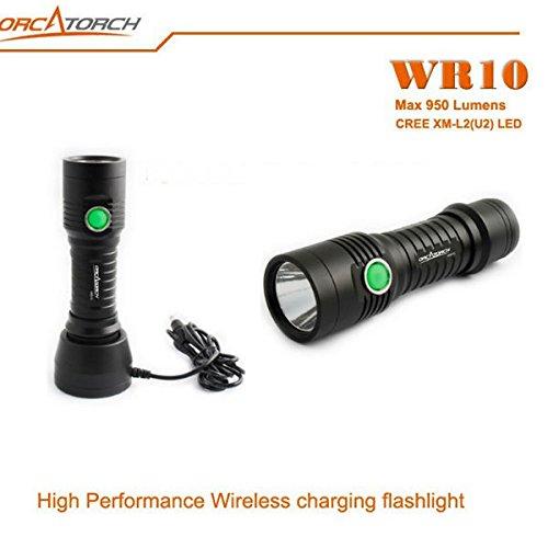 Bazaar ORCATORCH WR10 XM-L2 (U2) 950LM Wireless Aufladen LED Taschenlampe