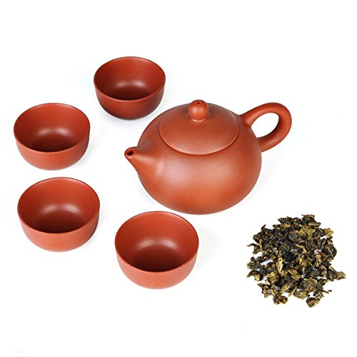 Aliciashouse 5pcs/set Kung Fu cinese in ceramica tazze Yixing viola argilla Tea teiera-rosso