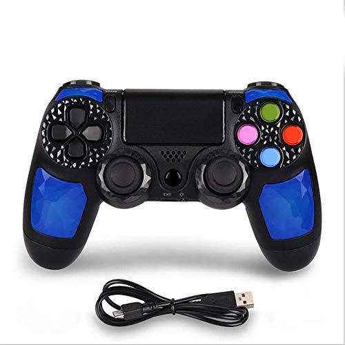 Wireless Controller für PS4, GR65 Dualshock PS4 Controller Wiederaufladbares Bluetooth-Gamepad mit Touchpad, Lichtleiste und 3,5-mm-Audiobuchse,B