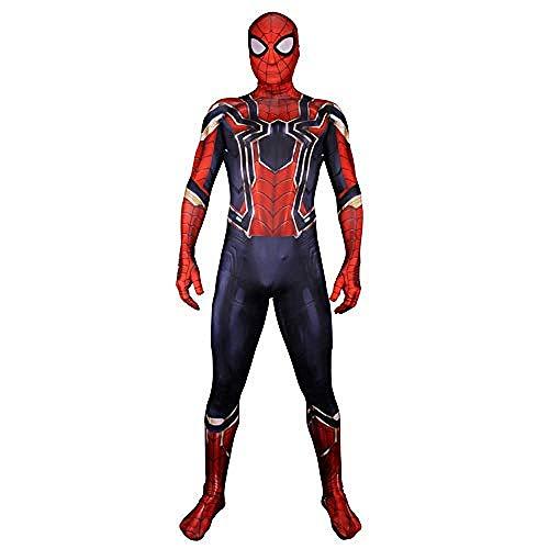 Mann Mädchen Eisen Kostüm - Karneval Anzüge Neue Erwachsene Kinder Eisen Spiderman Kostüm Halloween Geburtstagsfeier Cosplay Kostüm 3D Druck Spandex Anzug Kinder-M-Männer_Mittel,Halloween Anzug