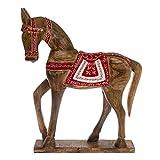 DESIGN DELIGHTS DEKO HOLZPFERD Amigo | Holz, 47 cm, rot/Weiss lackiert | Pferde Skulptur
