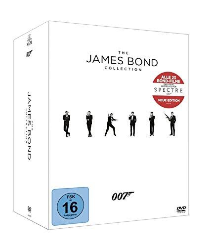 The James Bond Collection (inkl. Leerplatz für Spectre) [23 DVDs] - Claudine Collection