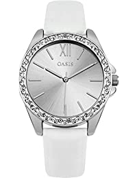 Oasis Ladies sb006 W correa de color blanco reloj