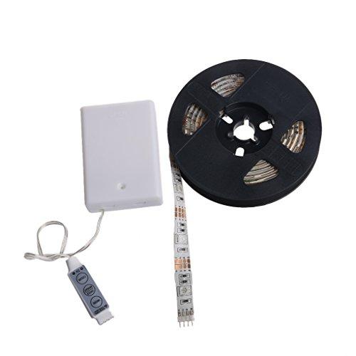 NNGUBIU 50 cm wasserdichte RGB 5050 SMD LED-Lichtleiste Flexible Batteriebox mit Controller