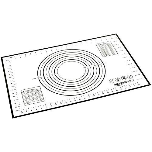 AmazonBasics - Back- und Rollmatte aus Silikon, 60 x 40 cm