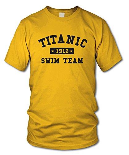shirtloge - TITANIC - SWIM TEAM - FUN T-Shirt - KULT - in verschiedenen Farben - Größe S - XXL Gelb
