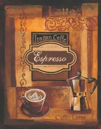 Italien Caffe par, Gregory Gorham–Fine Art Print Disponible sur papier et toile, Toile, SMALL (13 x 16.5 Inches )