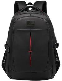 2a8d16e6ffc71 Hffan Herren Rucksäcke Einfarbig Elegant Schwarz Oxford-Tuch Wasserdicht  Mehrschichtig Praktisch Schultasche Rucksack Reisetasche mit