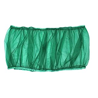UEETEK Bird Cage Skirt Mesh Bird Cage Seed Catcher Guard Net Cover Green Size S 14