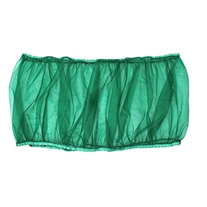 UEETEK Bird Cage Skirt Mesh Bird Cage Seed Catcher Guard Net Cover Green Size S 1