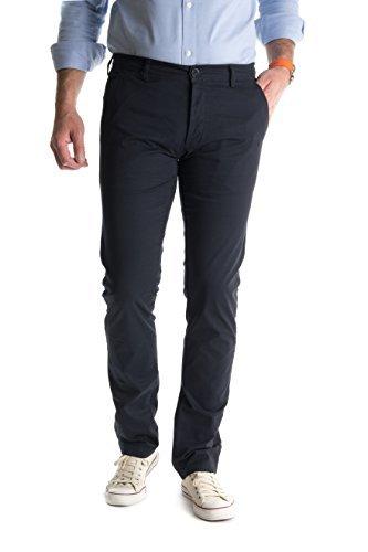Pantalon Homme Chino Highness - Un incontournable et un indémodable de tout vestiaire Masculin - A porter en toutes circonstances avec des baskets où des chaussures en cuir- Très confortable-Bleu  -36 US = 46 FR