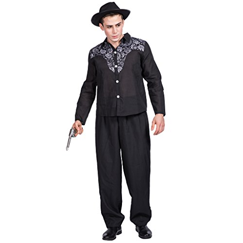 EraSpooky Herren Western Cowboy Kostüm Faschingskostüme Cosplay Halloween Party Karneval Fastnacht Kleid für Erwachsene