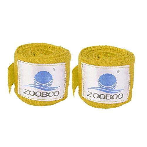 Preisvergleich Produktbild 2pcs 3m Boxing Boxbandagen Verband Stanzhandpackung Trainingshandschuhe Gelb