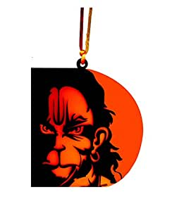 U & U Unique Utilities Hanuman Car Hanging God Interior Accessory (4x3.5 in, Orange)