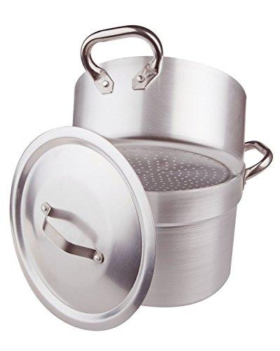 Unbekannt Verduras Pot Cook y cuscús con Cacerola Steamer espesor de 3 milímetros por completo de la tapa y dos asas de acero, de diámetro 360 mm cod.ALMA15236