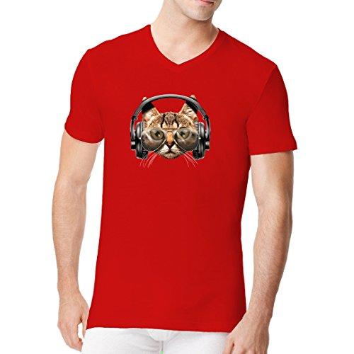 Im-Shirt - Catphones Fun Shirt cooles Fun Men V-Neck - verschiedene Farben Rot