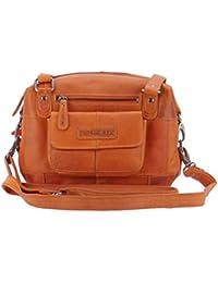 Damen Handtasche,Umhängetasche Echtleder Hill Burry Tasche,Vintage rot 4059