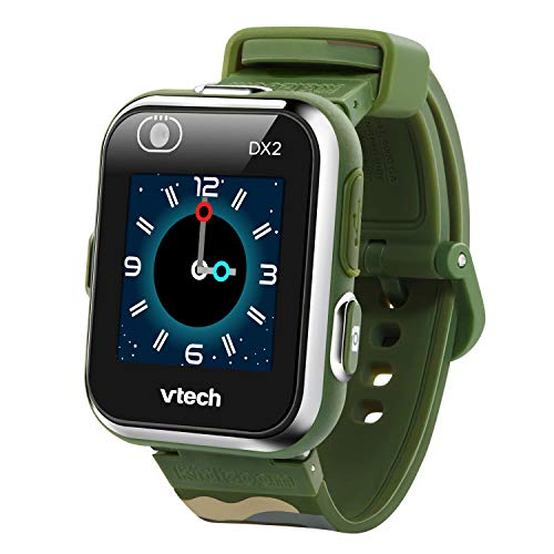 VTech Kidizoom Smart Watch DX2 - Reloj inteligente para niños con doble cámara, color camou (3480-193877)