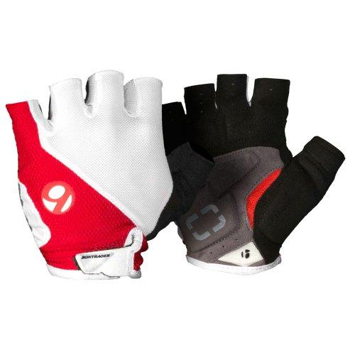 Bontrager Race Fahrrad Handschuhe kurz weiß/rot 2015: Größe: L (9)