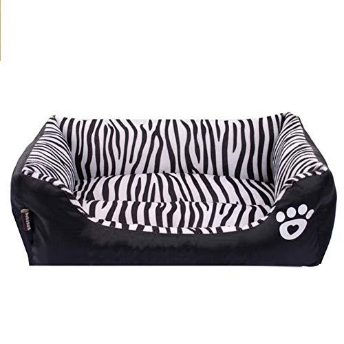 CZHCFF Wasserdichtes Hundebett Zebra-Muster Pet Moisture House Keeper hält die Hündchen sauberer für kleine, größere Haustiere. S-Größen M und L -