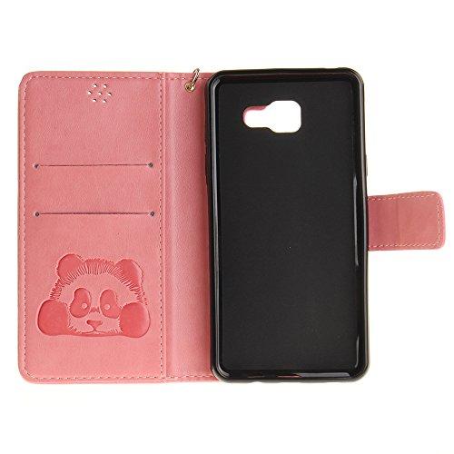 Coque iPhone 6,Coque iPhone 6s,portefeuille cas pu étui en cuir et la prime du titulaire de la carte Marron Rose