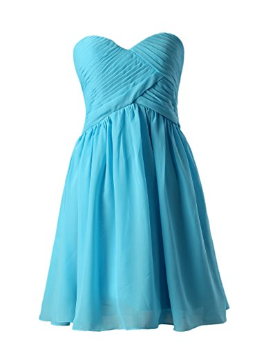 Dresstells, A-ligne longueur genou robe de demoiselle d'honneur Robe courte de cocktail Jaune