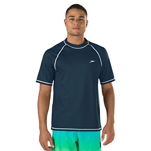 Speedo Guard (Speedo Easy Rash Guard Badeshirt für Herren, mit UV-Schutz und LSF 50+, Herren, New Navy, XX-Large)