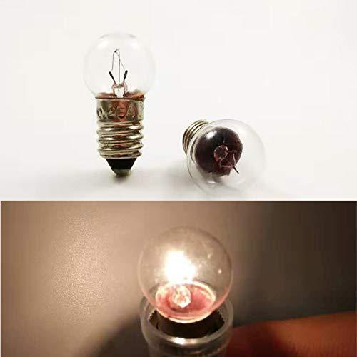 Miniatur-Schraube Sockel E10 12 V / 0,25 A 3 W Glühbirne Lampion für DIY Lehrer Experiment (10 Stück), 12V 0.25A - Glühbirne Experiment
