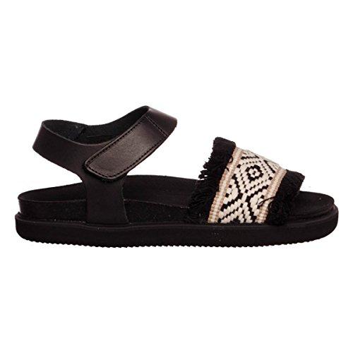 Colors of California Bio Sandal femmes, cuir lisse, sandales