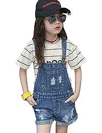 YouXin Niños Dungaree Chicas Mezclilla Pantalones Cortos con Bolsillos Mono