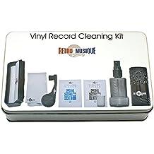 Vinyl Schallplatten Reinigung - Set Bestehend Aus Kohlefaserbürste, Stylus-Pinsel, Tiefenreinigungsspray und Mikrofastertüchern - Für Besten Klang Und Pflege Ihrer Kostbaren Musiksammlung