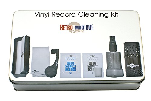 Vinyl Schallplatten Reinigung - Set Bestehend Aus Kohlefaserbürste, Stylus-Pinsel, Tiefenreinigungsspray und Mikrofastertüchern - Für Besten Klang Und Pflege Ihrer Kostbaren Musiksammlung (Platte-aufbewahrungsbox)