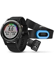 Garmin fenix 5 GPS Multisportuhr Performer Bundle / Premium HRM-Tri Brustgurt grey 2017 Puls-messgerät Puls-Messer