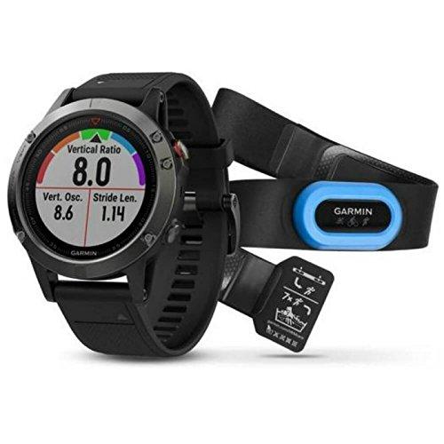Garmin Fenix 5 Sapphire GPS Watch - Performer Bundle Black