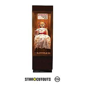 StarCutouts SC1540 Annabelle Possessed - Funda de Cristal para muñeca, Ideal para Fiestas temáticas de Halloween y Fans de la película de Terror, 177 cm de Alto