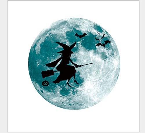 Kinderzimmer Dekoration Halloween Leuchtende Hexe Fledermaus Mond Fluoreszierende Aufkleber Schleife Leuchten