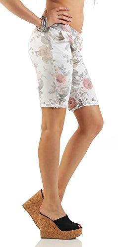 ZARMEXX Fashion -  Pantaloncini  - Donna Bianco