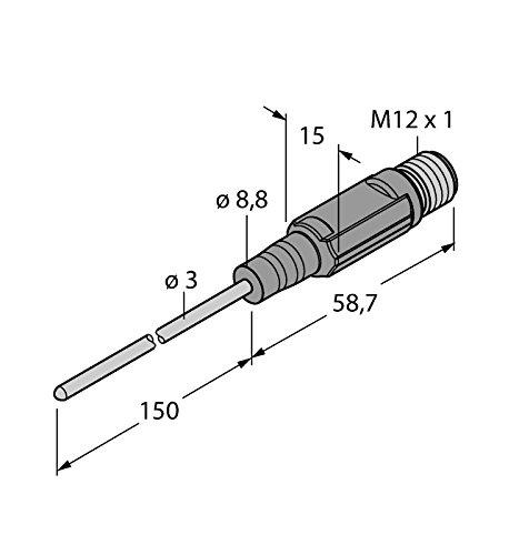 9910536ttm150C gtl-203a-LI6-h1140L150CF, de la température de détection miniature Transmetteur