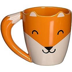 thumbs Up! - Fox Mug - Tasse Céramique en forme d'un renard - queue est le poignée - orange - 275ml - 0001317