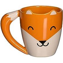 Thumbs Up Fox Mug - Tasse Céramique en Forme d'un Renard - Queue est Le Poignée - Orange - 275ml - 0001317