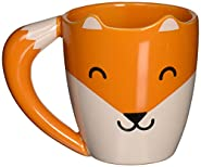 Fox shaped mug, Made with high quality ceramic, Microwave and dishwasher safe, Large comfortable handle, Measures 5 by 3.5 by 4-inches